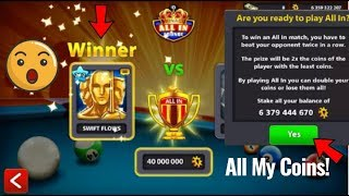 When 2 Players are so Unlucky in Monaco All In 40m.....🤔 - 8 Ball Pool