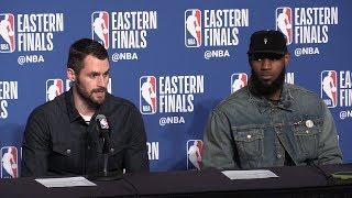 LeBron James, Kevin Love after Cavs destroy Celtics in Game 3
