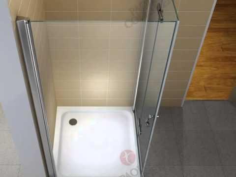 Duschkabine Falttur Eckdusche Faltkabine Duschabtrennung Dusche