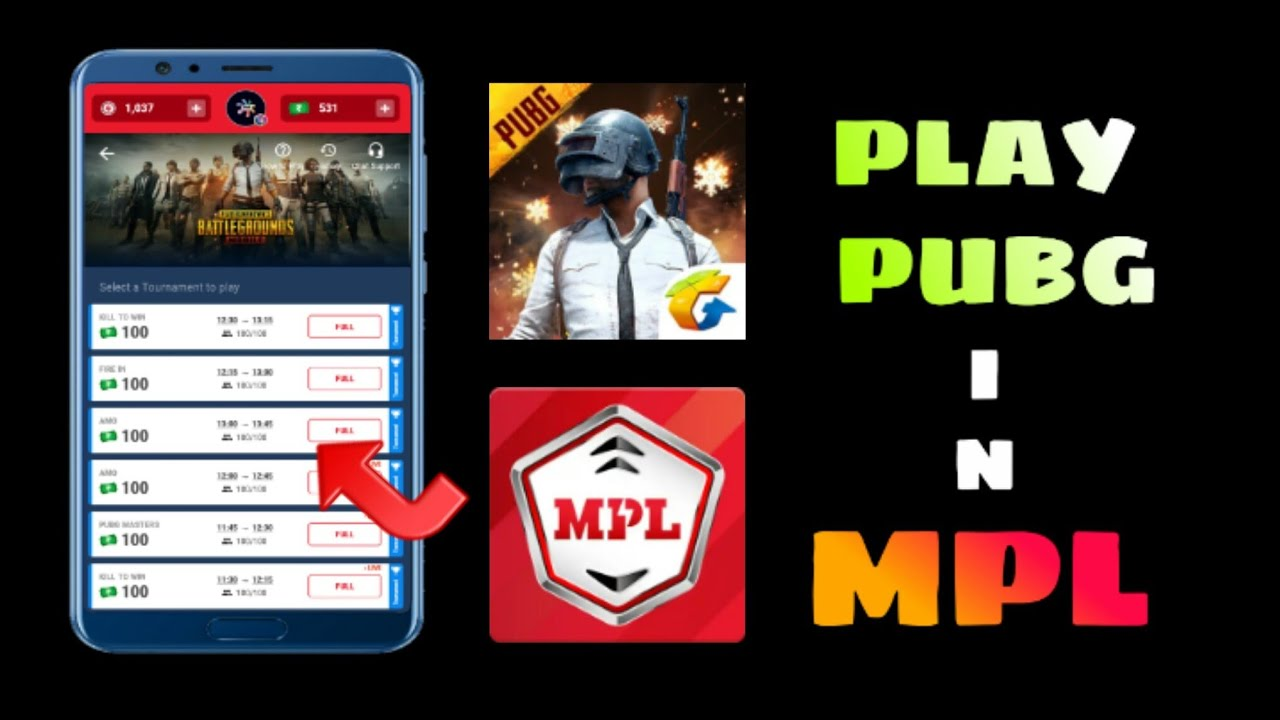 How To Play Pubg In Mpl App Earn Money From Pubg Game