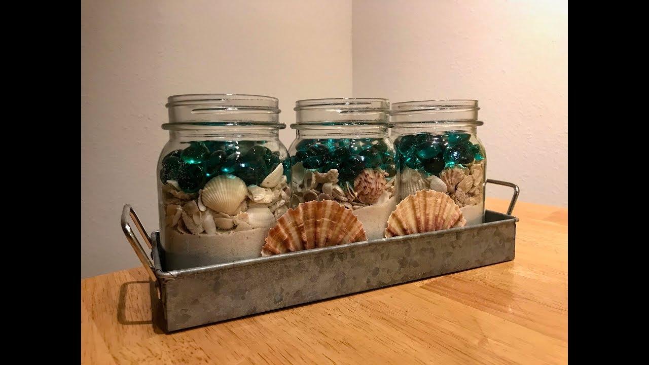 Diy Beach Themed Mason Jars Youtube