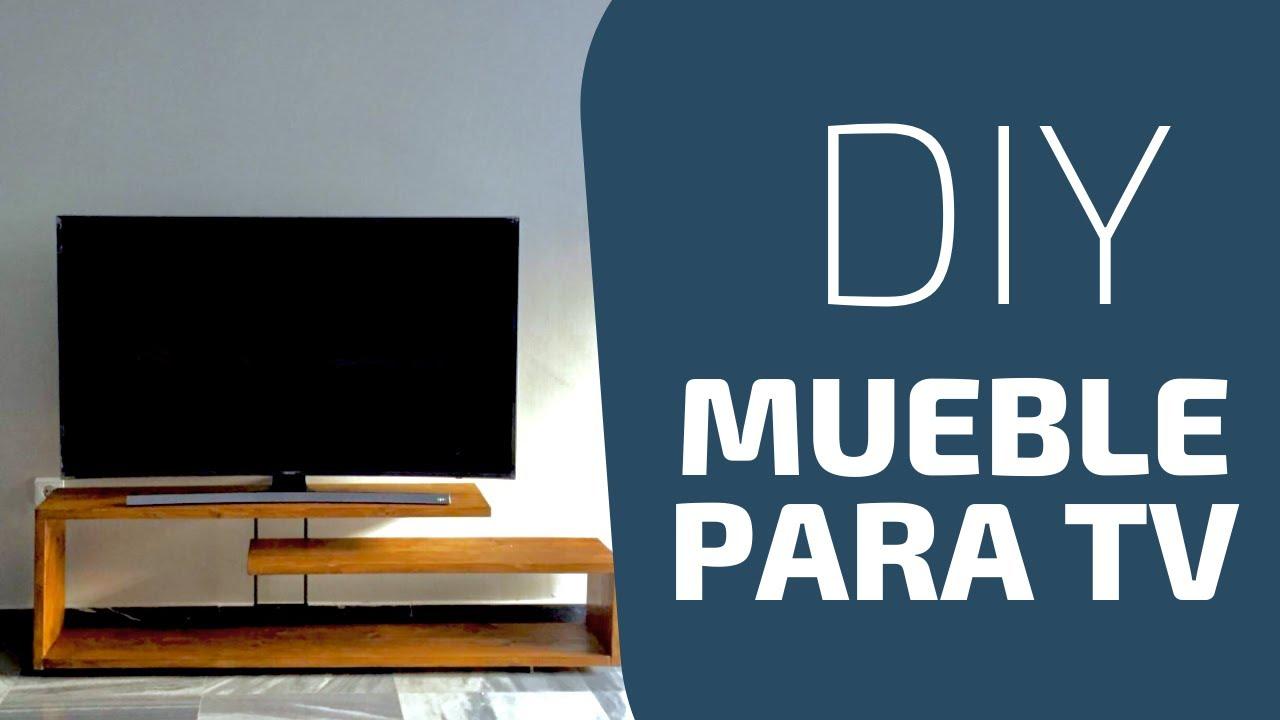 Como hacer un mueble para tv diy modern console table - Como hacer un mueble para tv ...