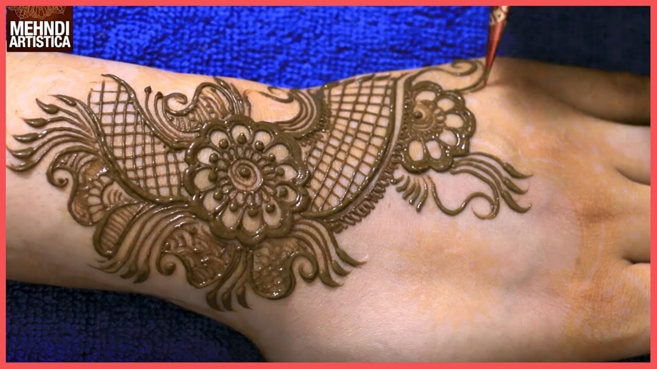 Mehndi Art Step By Step : A new easy simple floral mehndi design for hands step by