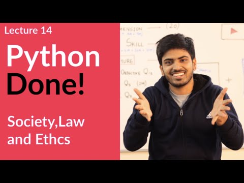 Python for Class 12 Board Exam | Society, Law and Ethics