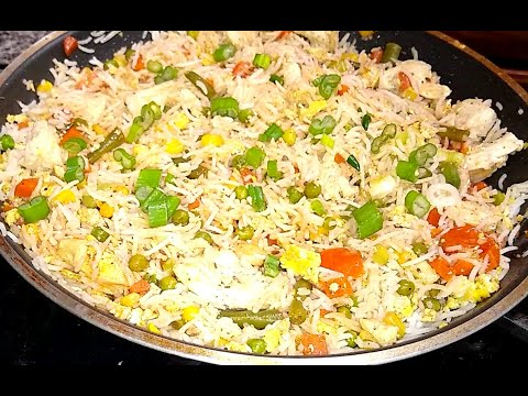 Egg fried rice/ fried rice, in 5 minutes