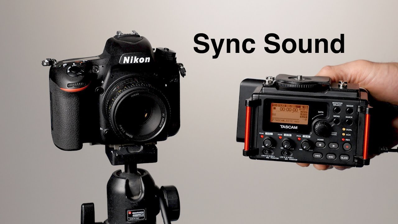 How To Record Sound For Video  Dual System Sync Sound