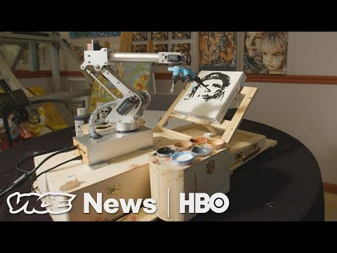 Pindar Van Arman Is Teaching Robot Artists To Paint Like Humans (HBO)
