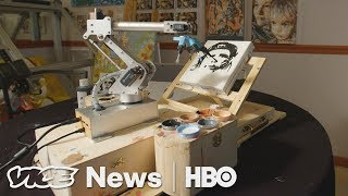 Pindar Van Arman Is Teaching Robot Artists To Paint Like Humans (HBO) thumbnail
