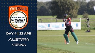 🔴 FanCode European Cricket Series Austria,  Vienna Day 4 | Cricket Live Stream