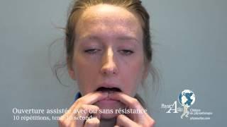 Exercices de rééducation temporo-mandibulaire
