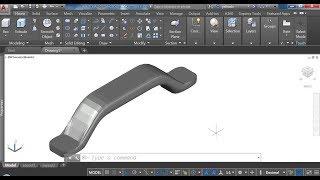 AutoCAD. 3D модель мебельной ручки