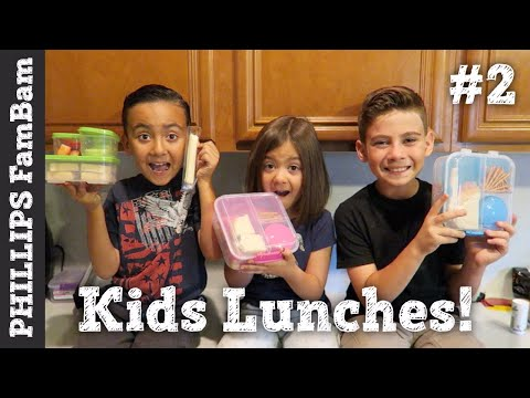 KIDS SCHOOL LUNCH IDEAS #2 | KIDS PACKING THEIR OWN LUNCHES | PHILLIPS FamBam Vlogs