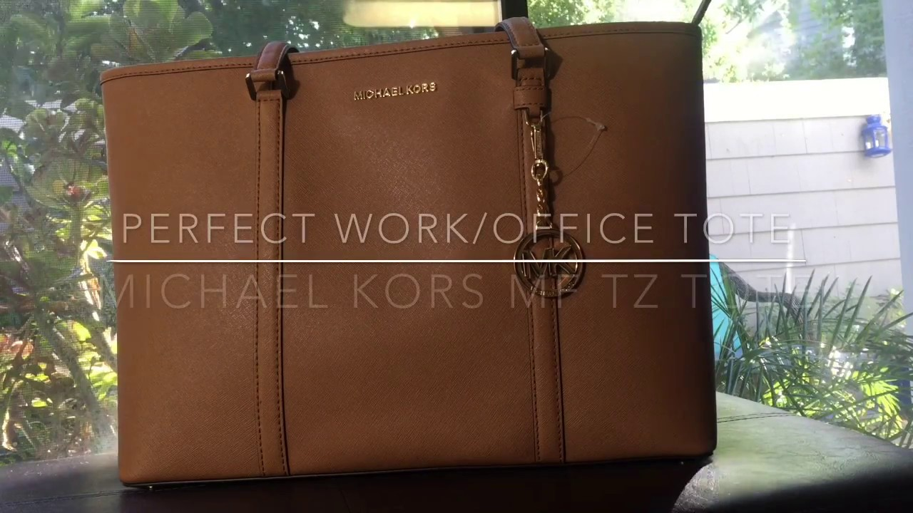 9484461d66ce73 Perfect Work Tote Series - MICHAEL KORS SADY MF TZ Large Tote - YouTube