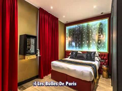 hotel les bulles de paris youtube. Black Bedroom Furniture Sets. Home Design Ideas