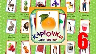 Учебные Карточки (Домана) для детей. №6 - Инструменты, Бытовая техника, Мебель и предметы быта