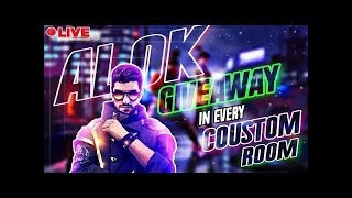 🔴[LIVE]🇮🇳ALOK GIVEAWAY | 1000+ Diamond Giveaway | FREE fire LIVE | FULL CUSTOM ROOMS WITH JD