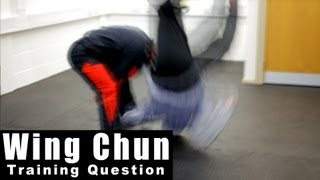 Wing Chun training - wing chun how to deal with takedown Q42