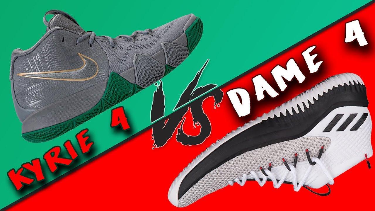 nice shoes a746e 4c314 Nike Kyrie 4 vs Adidas Dame 4!