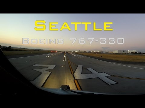 Seattle Tacoma Int'l - with GoPro Hero 3+ HD Cockpit View