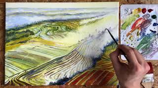 Рисую остров Бали / Speedpaint / Живопись акрилом