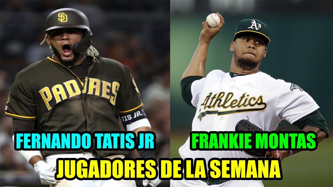 FERNANDO TATIS JR Y FRANKIE MONTAS NOMBRADOS JUGADORES DE LA SEMANA ¡PLATANO POWER!