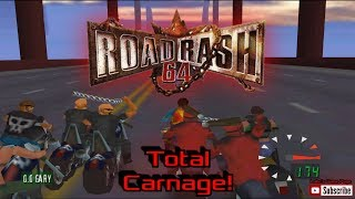 Road Rash 64 Gameplay and Overview N64 HD 1080p