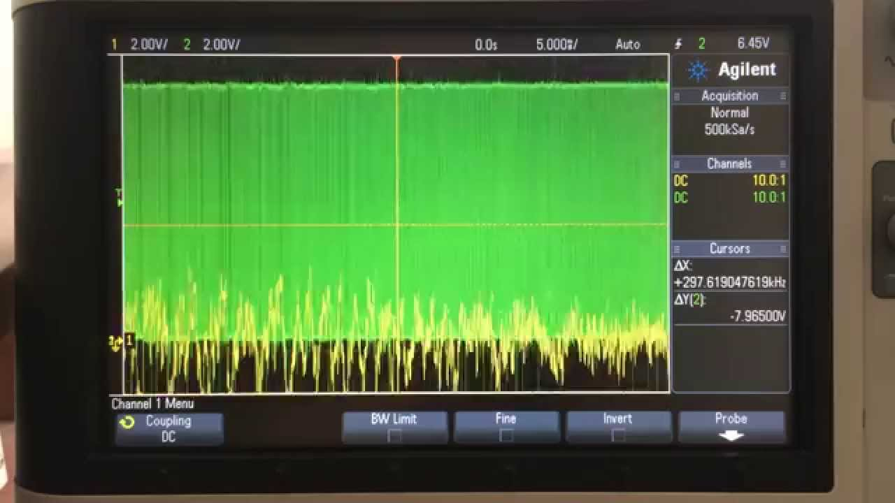 Amp On An Oscilloscope : Class d amp beats on oscilloscope youtube