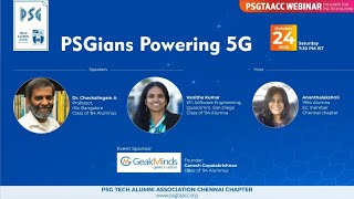 PSGians Powering 5G- Webinar by Dr. Chockalingam A & Vanitha Kumar Dt. 24-Oct-2020