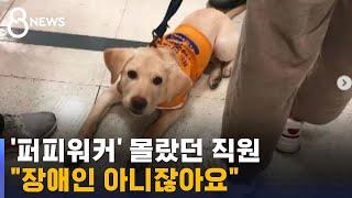 """""""롯데마트 직원 고함에, 어린 안내견 불안에 …"""