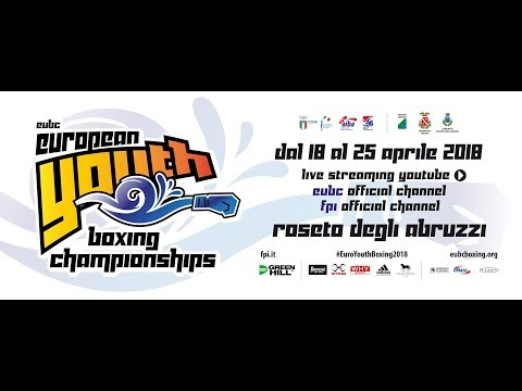 Euro Youth Boxing Championships 2018 Day 3 RING A - SESSION 1 - 2