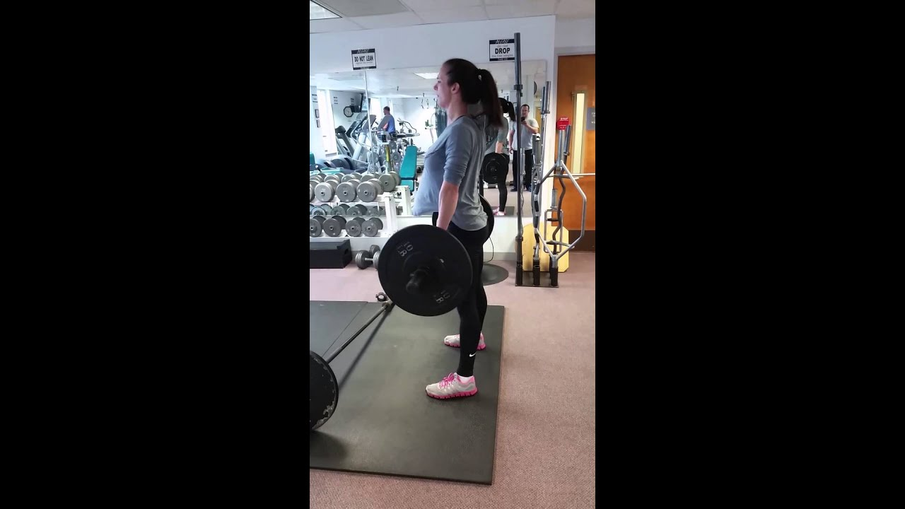 Proper Deadlift For A 6 Foot Tall Woman Youtube