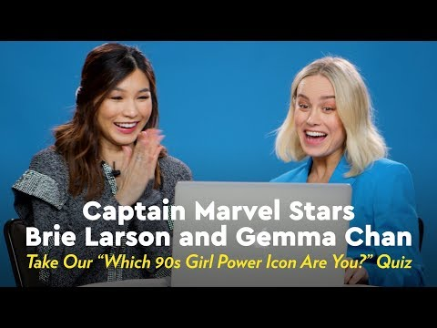Captain Marvel Stars Brie Larson and Gemma Chan Find Out Which '90s Girl Power Icon They Are