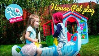 Детский пластиковый домик Ферма Pal Play. Игровой домик Marian Plast 780. Видео для детей. Pic'n'mix