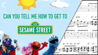 Alto Sax  - Sesame Street - Theme Song - Sheet Music, Chords, & Vocals