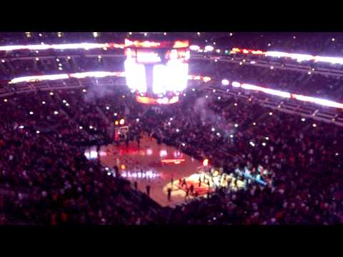 2014-15 Chicago Bulls starting lineup intro