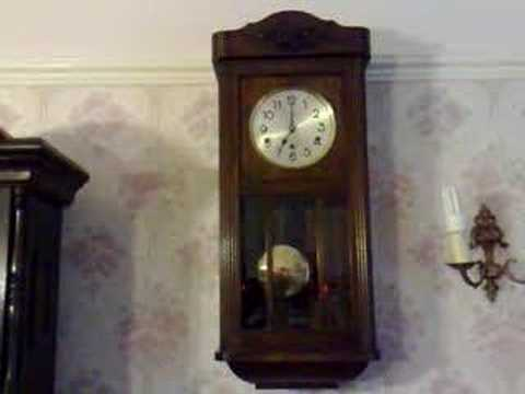 Dufa Westminster Chime Chiming Wall Clock Youtube