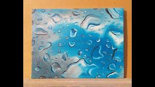 Видео уроки живописи маслом, Виктор Арефьев мастер класс по живописи маслом «Капли» видео