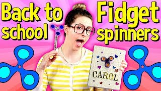 Back to School Fidget Spinner DIY Notebook & DIY Pencil Topper! | Arts & Crafts with Crafty Carol