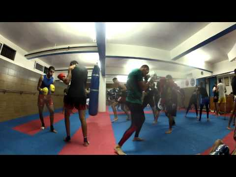 sparring boxing at (Africa Club Rabat)