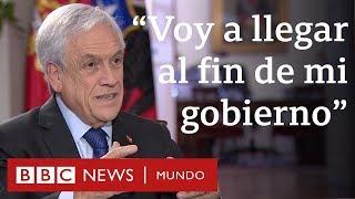 """Entrevista exclusiva a Sebastián Piñera: """"Por supuesto que voy a llegar al fin de mi gobierno"""""""