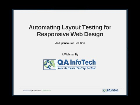 Webinar on Automating Layout Testing for Responsive Web Design