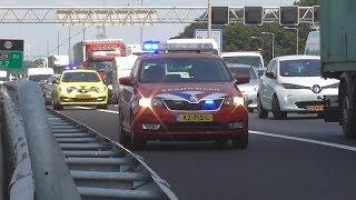 Vele hulpdiensten naar een ernstige aanrijding in de Heinenoordtunnel!