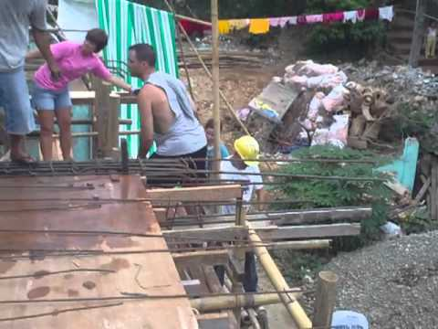 How to do cement work in the Philippines Boracay 2010