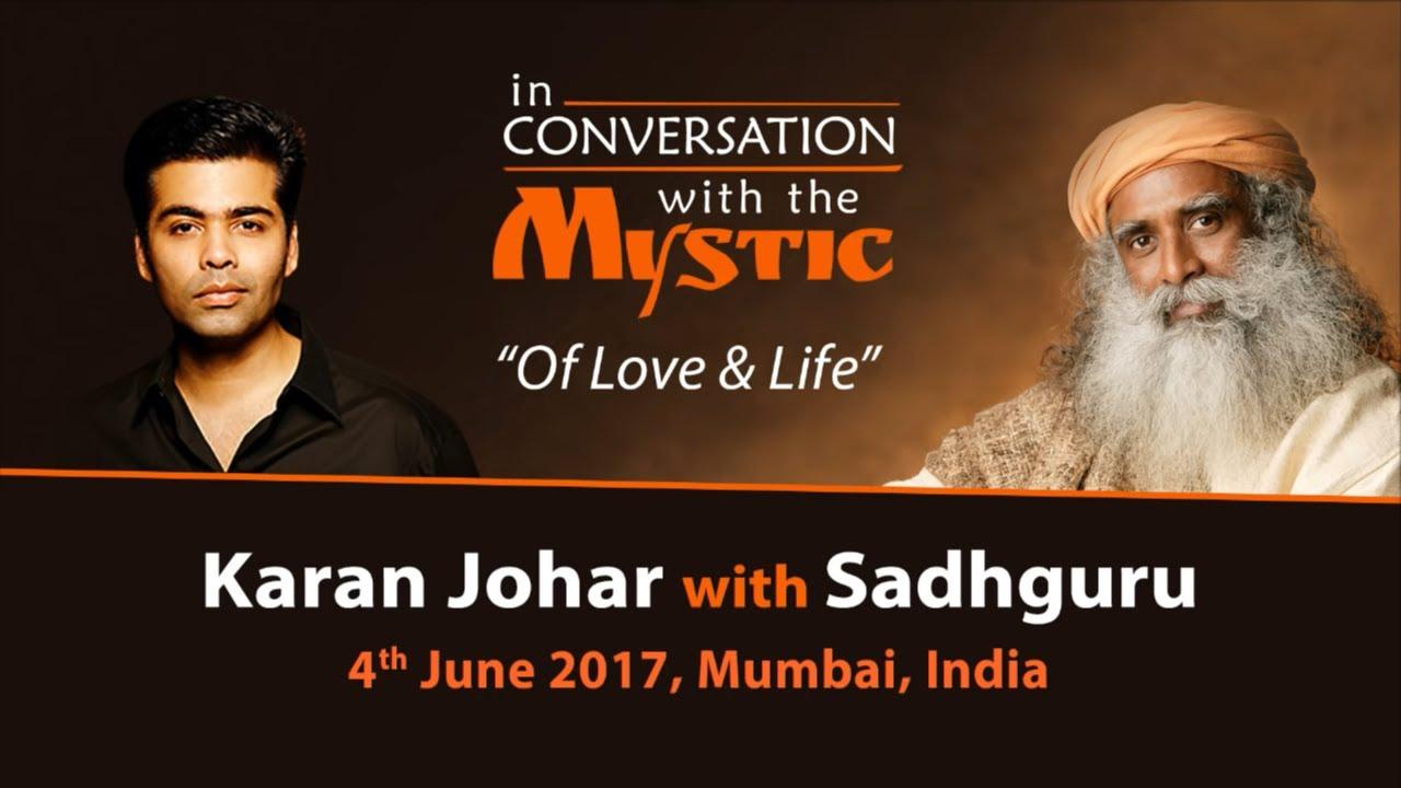 Karan Johar In Conversation with Sadhguru - Live from Mumbai - June 4, 2017