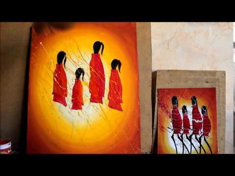 Реклама мастер-класса по Африканской живописи