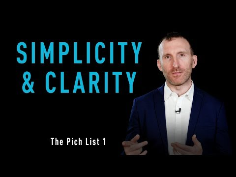 OFI - The Pitch List - No. 1 - Simplicity and Clarity