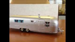 Unboxing The Design Studio DS-101 1956 Airstream Trailer Toy Diecast Like Brooklin & Franklin Mint