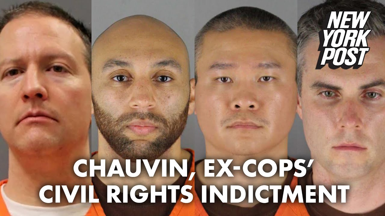 Derek Chauvin, 3 ex-cops indicted for violating George Floyd's civil rights | New York Post