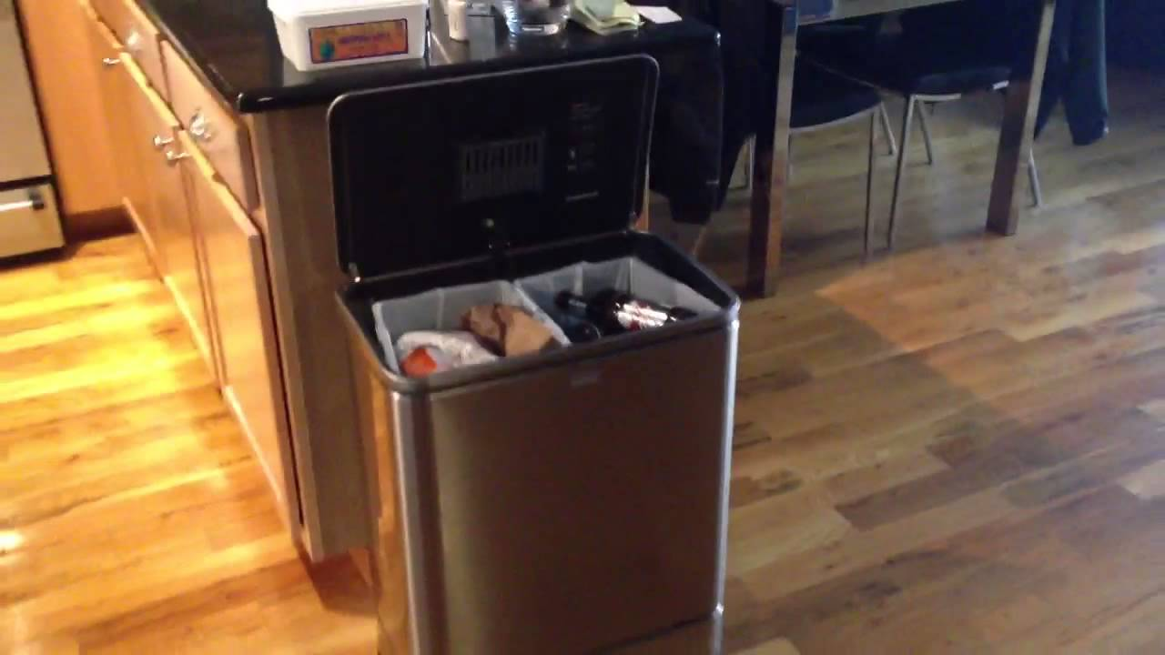 Just Because It Holds Trash Doesn T Mean Your Can Should Be A Piece Of Garbage This High Tech Stainless Steel Refuse Receptacle From Simple Human Uses