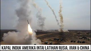 Rusia, China dan Iran Gelar Latihan 'Operasi Kaukasus 2020', Kapal Induk AS Datang Mengintai